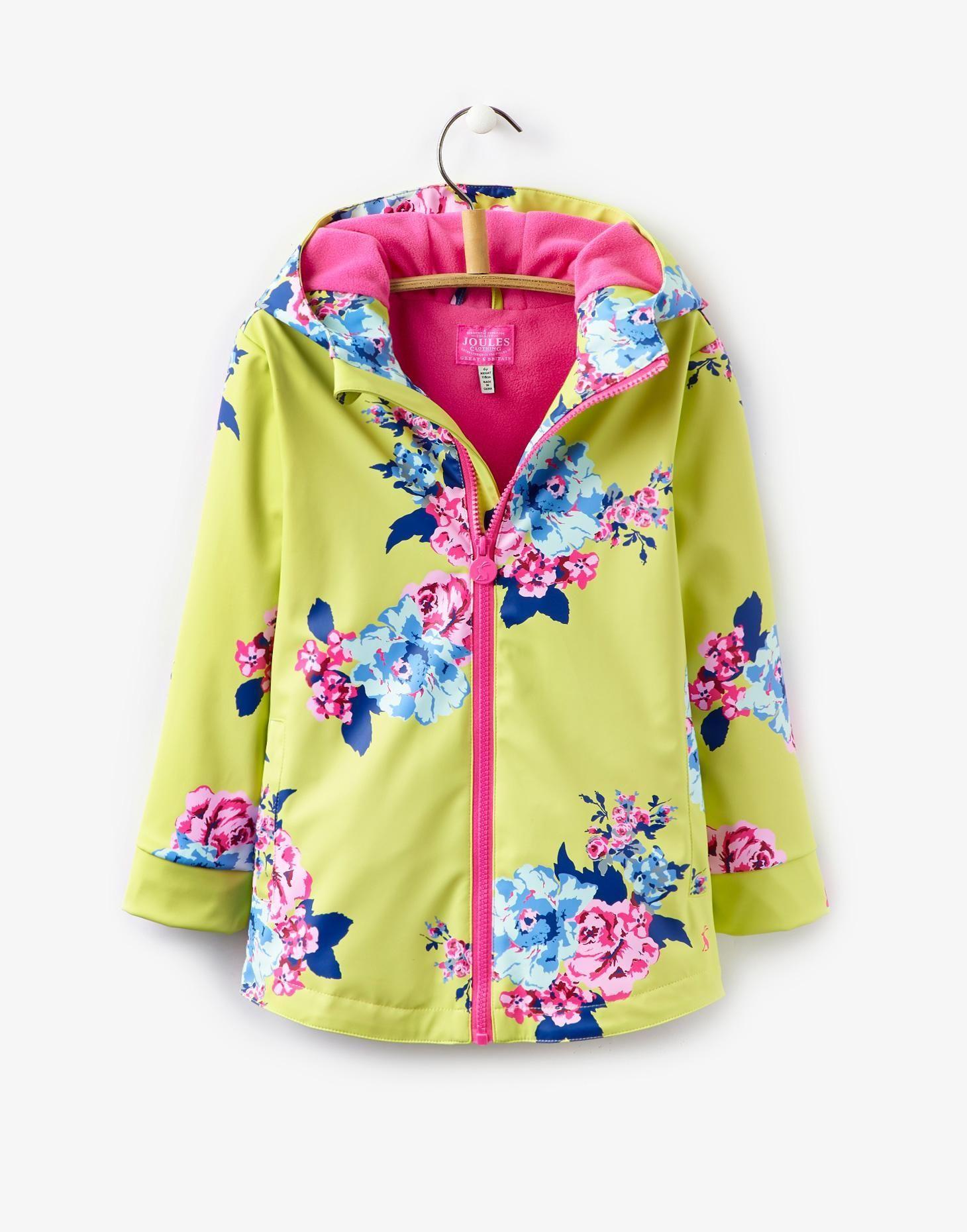 Raindance Lime Floral Waterproof Coat | Joules UK Different colour ...