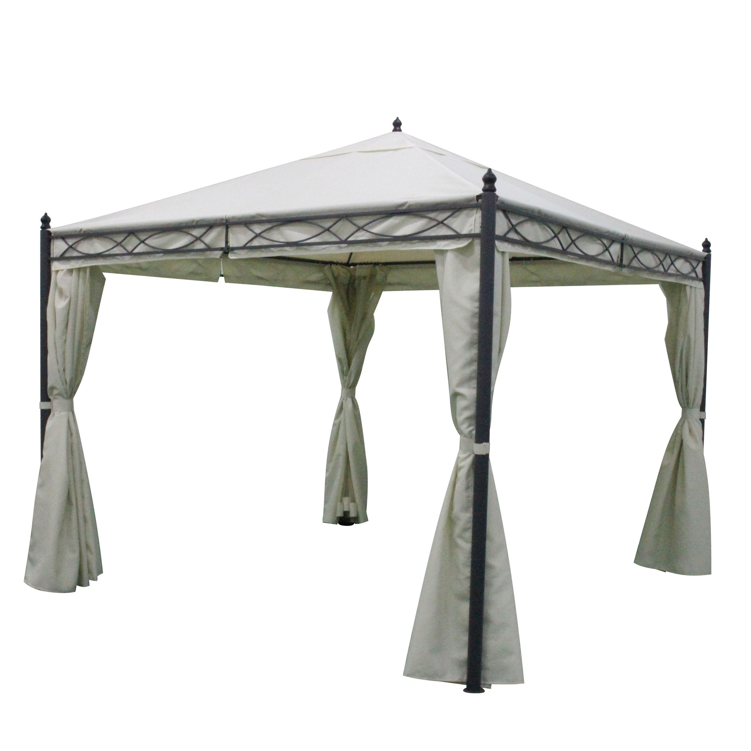 Sicilia Outdoor Steel Gazebo by Christopher Knight Home (White + ...