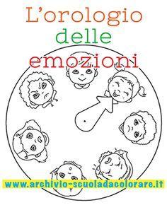 Lorologio Delle Emozioni Da Colorare Duygular Compleanno Scuola