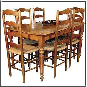 table with chairs, Napoleon III style