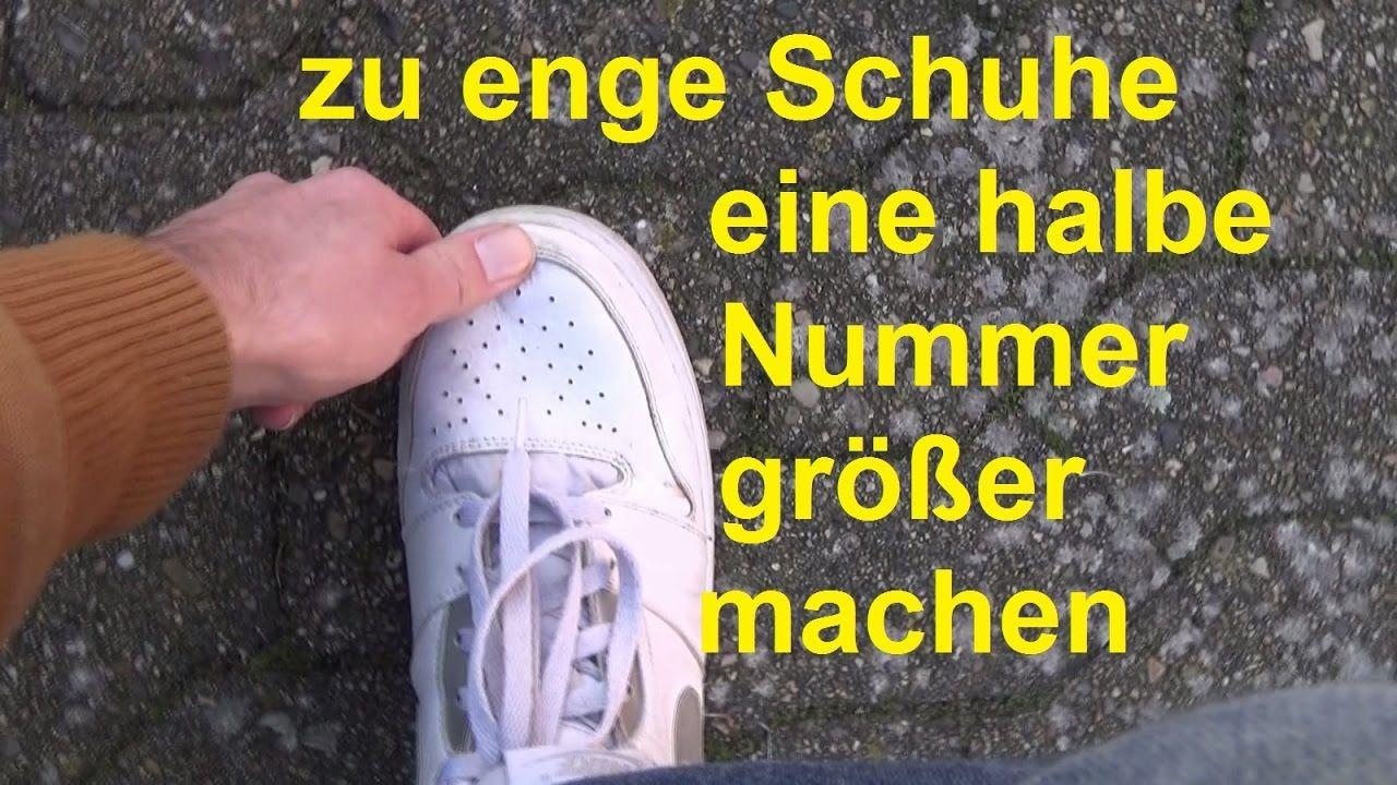 Schuhe weiten eine Nummer größer machen enge Schuhe weiten