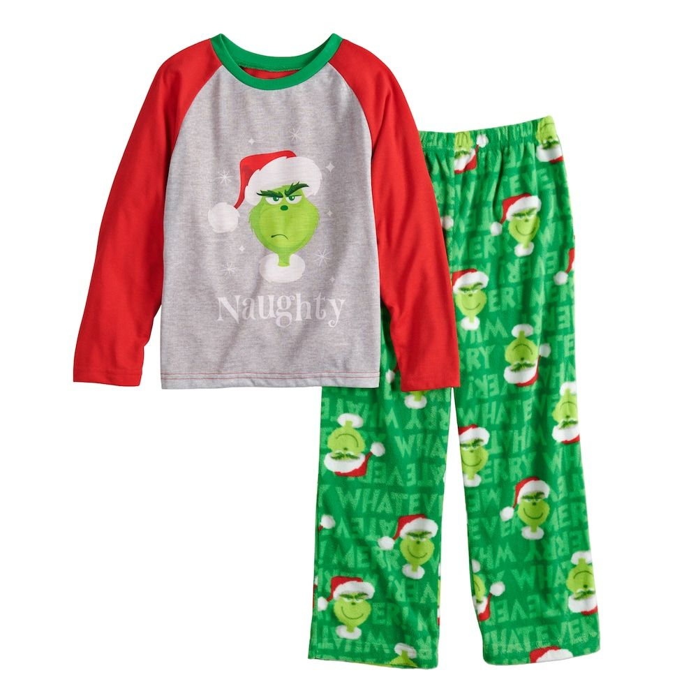 Boys 4 12 Jammies For Your Families How The Grinch Stole Christmas