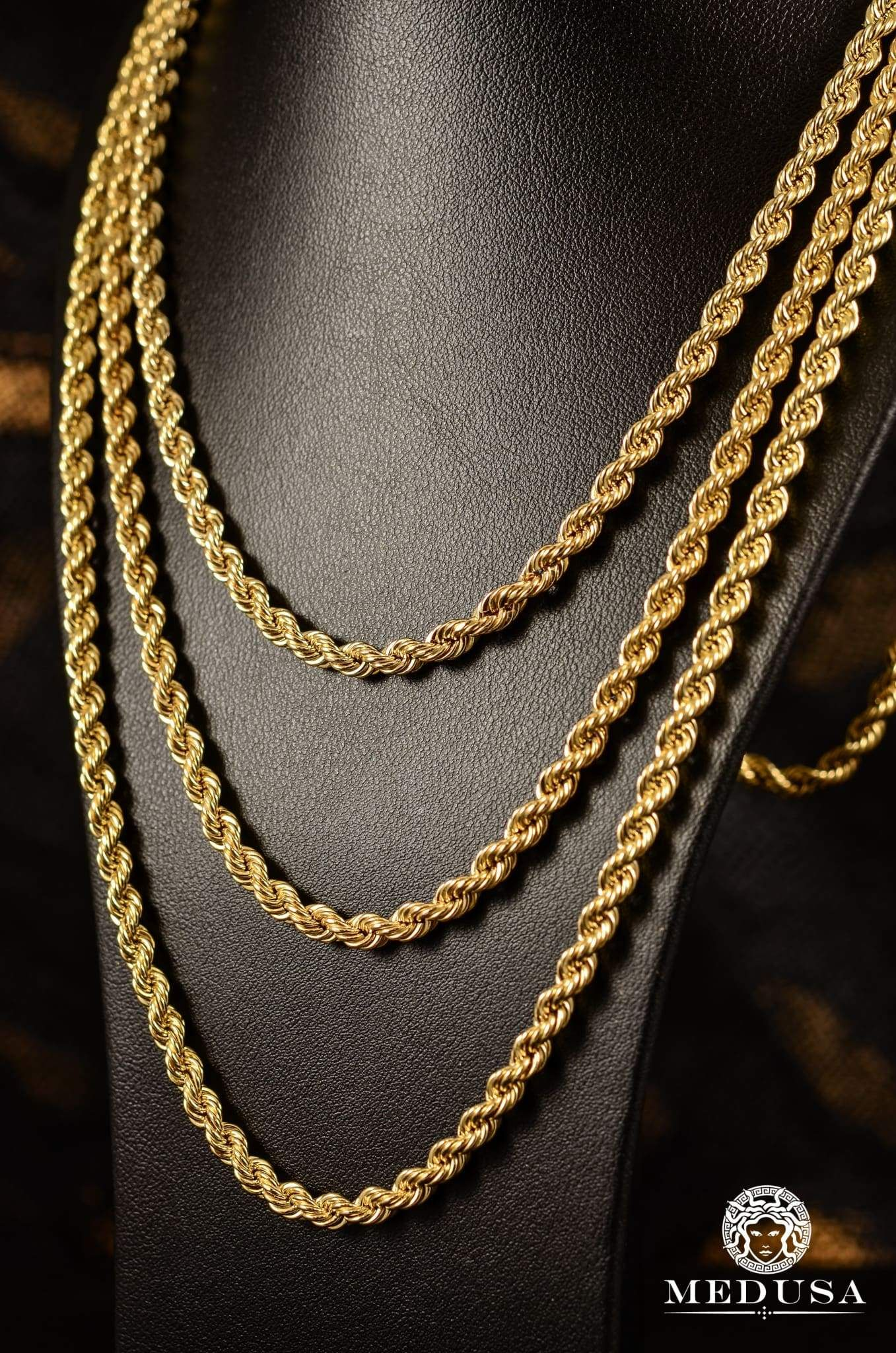 4mm Torsade Gold Chain Design Gold Chains For Men Gold Chain Jewelry