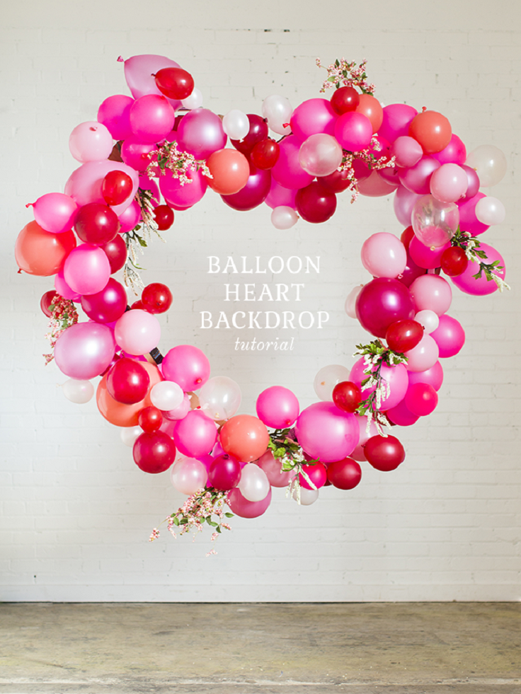 Valentine\'s Day Balloon Heart Tutorial - 15 Special Valentine\'s ...