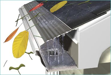 Rustproof Stainless Steel Gutters with Guards