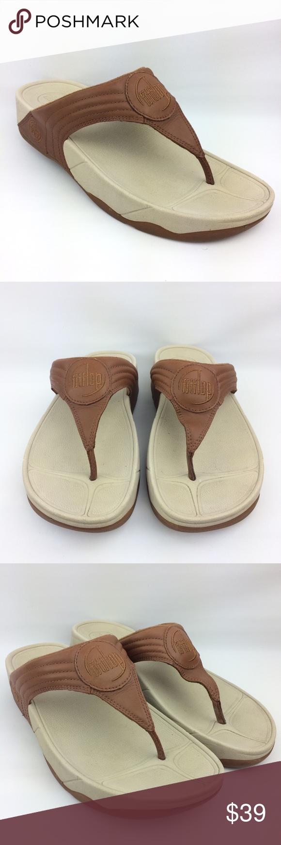 391a6ec9fe79bb FitFlop sandals wobble board tan brown size 7 FitFlop sandals wobble board  tan brown size 7 Fitflop Shoes Sandals