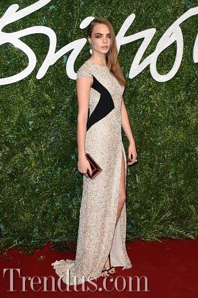 İngiliz Moda Ödülleri Kırmızı Halı - Cara Delevingne