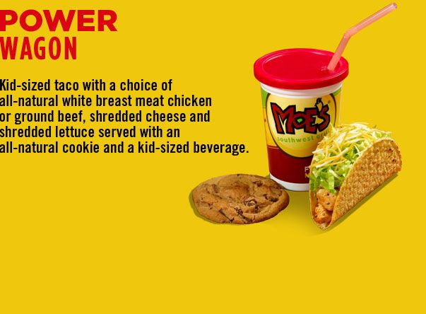 graphic about Moes Printable Menu identified as Energy Wagon Mini Moes Youngsters menu, Meat chickens, Flooring beef
