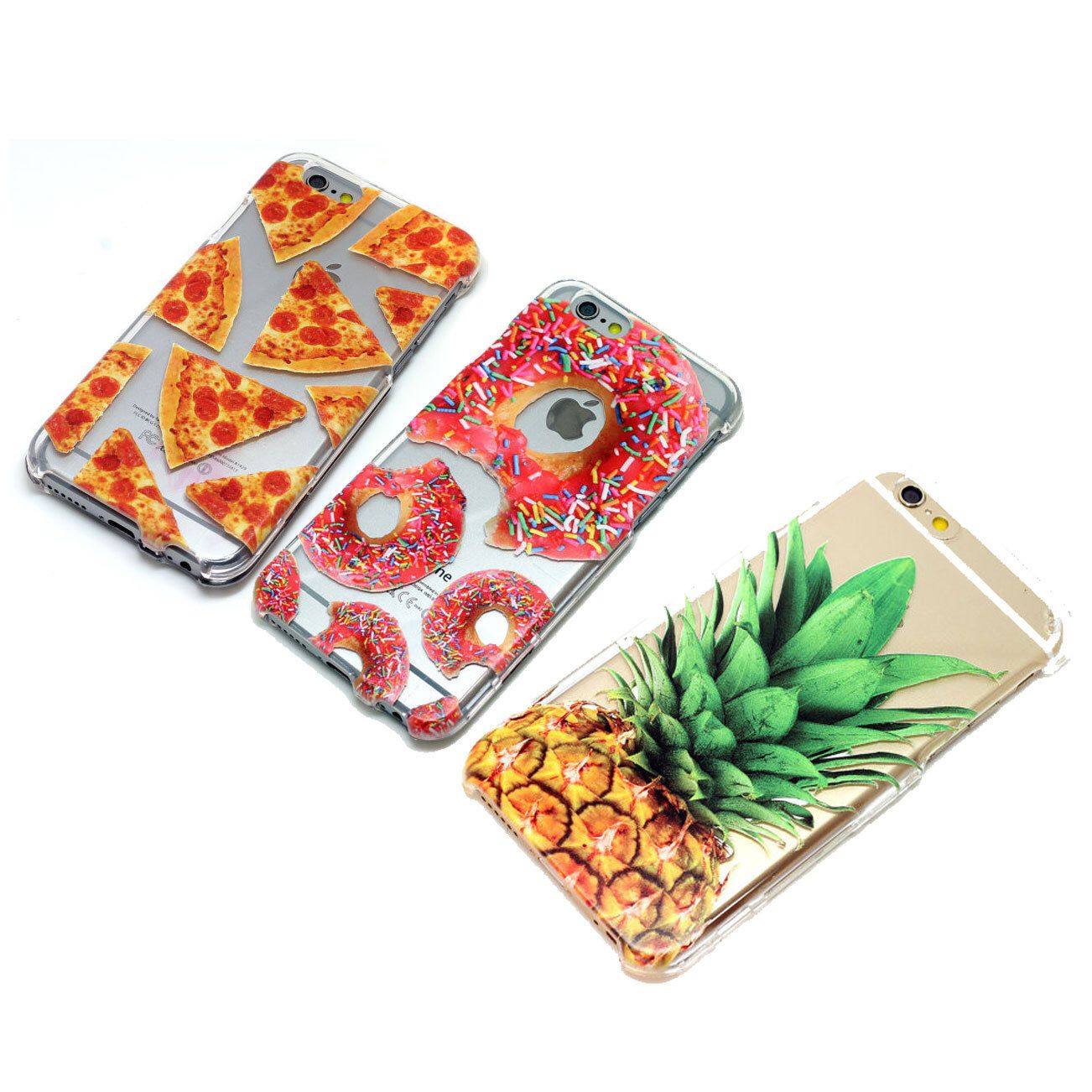iPhone 5 5s 5c Case Clear - 3 Pack Featuring Pizza Donut Pineapple Cases by ClashCases on Etsy https://www.etsy.com/listing/246318390/iphone-5-5s-5c-case-clear-3-pack
