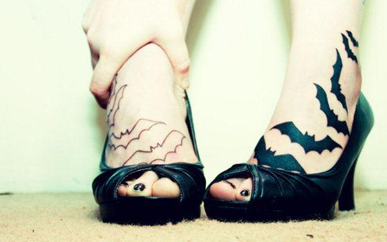 Geniais tatuagens de morcegos