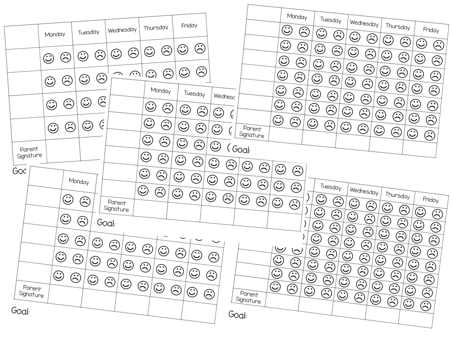 Easy to Implement Behavior Charts...simple forms to fill
