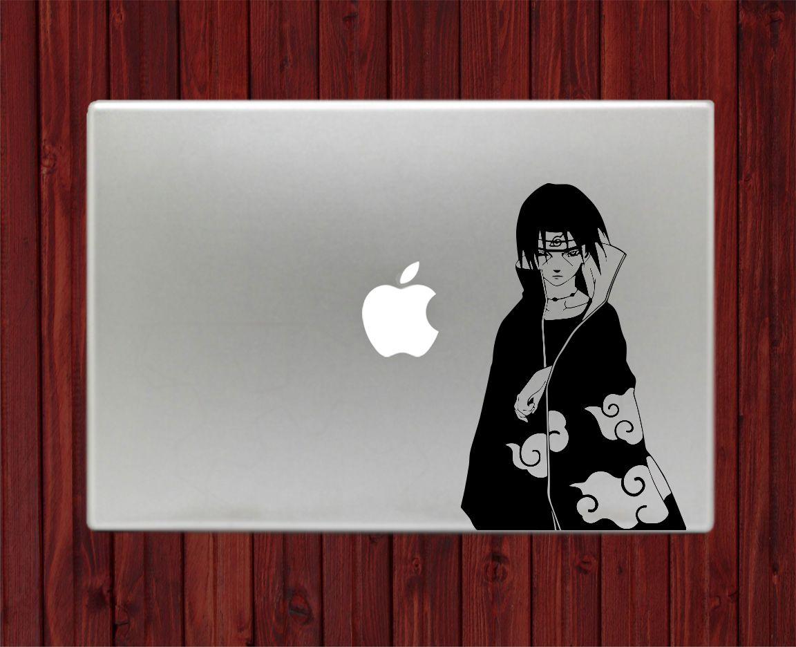 Decalontop com naruto uchiha itachi naruto shippuden decal stickers for apple macbook pro air
