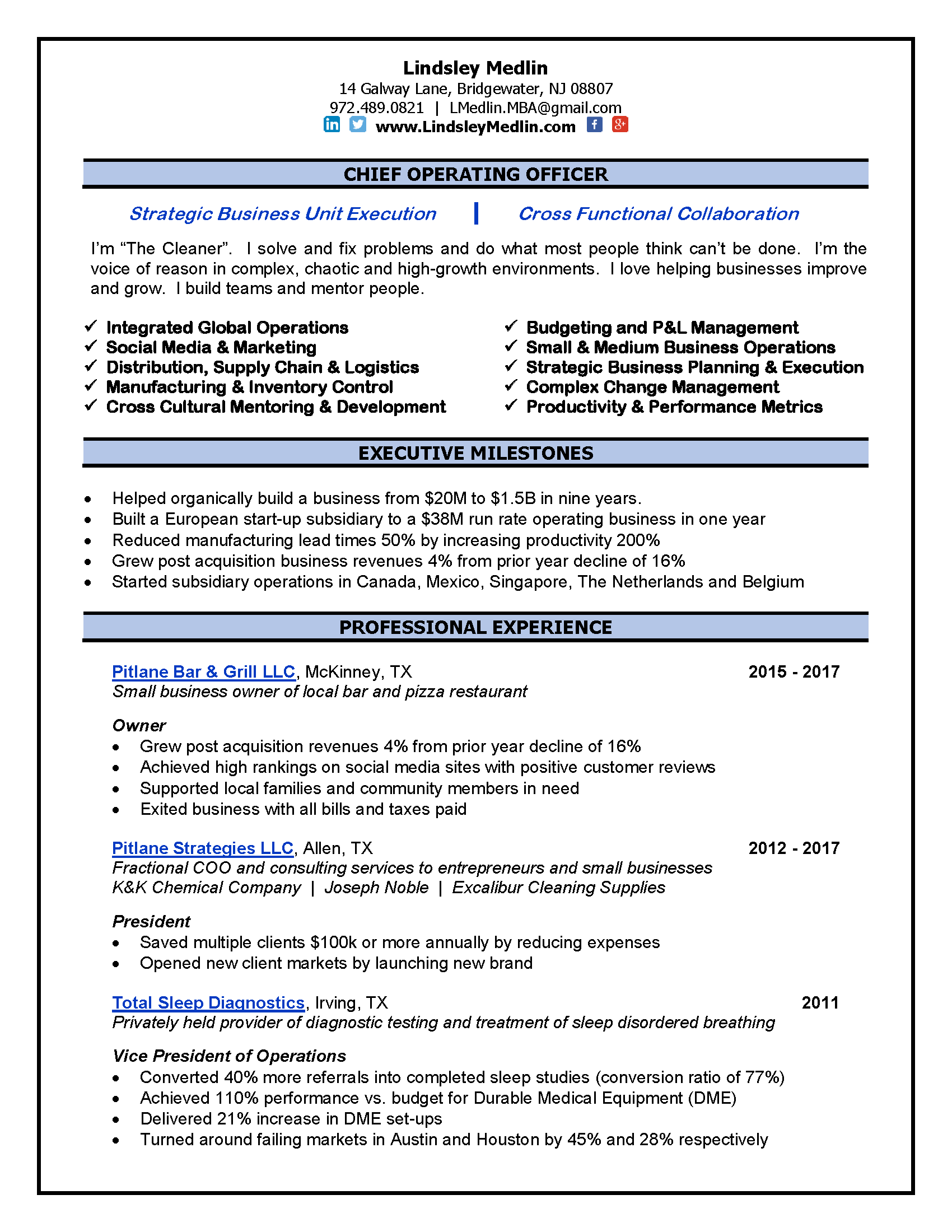 34++ Chief operating officer resume examples Resume Examples