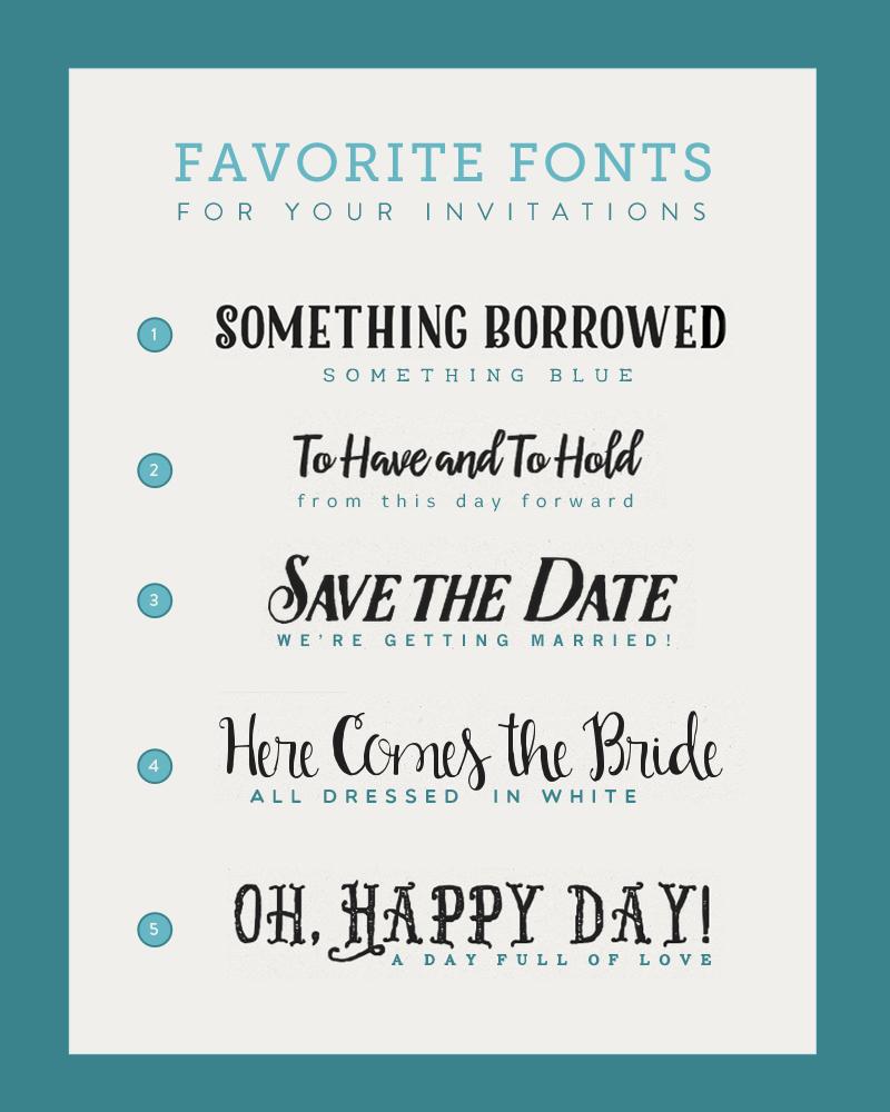 Fonts for diy wedding invitations diy wedding invitations diy