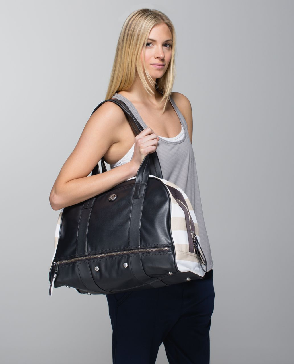 e5a92255672 Original Price: $118. Color: beach stripe printed cashew white / soot. Why  we made this Some days we're constantly on the go, and we need a bag that  can ...