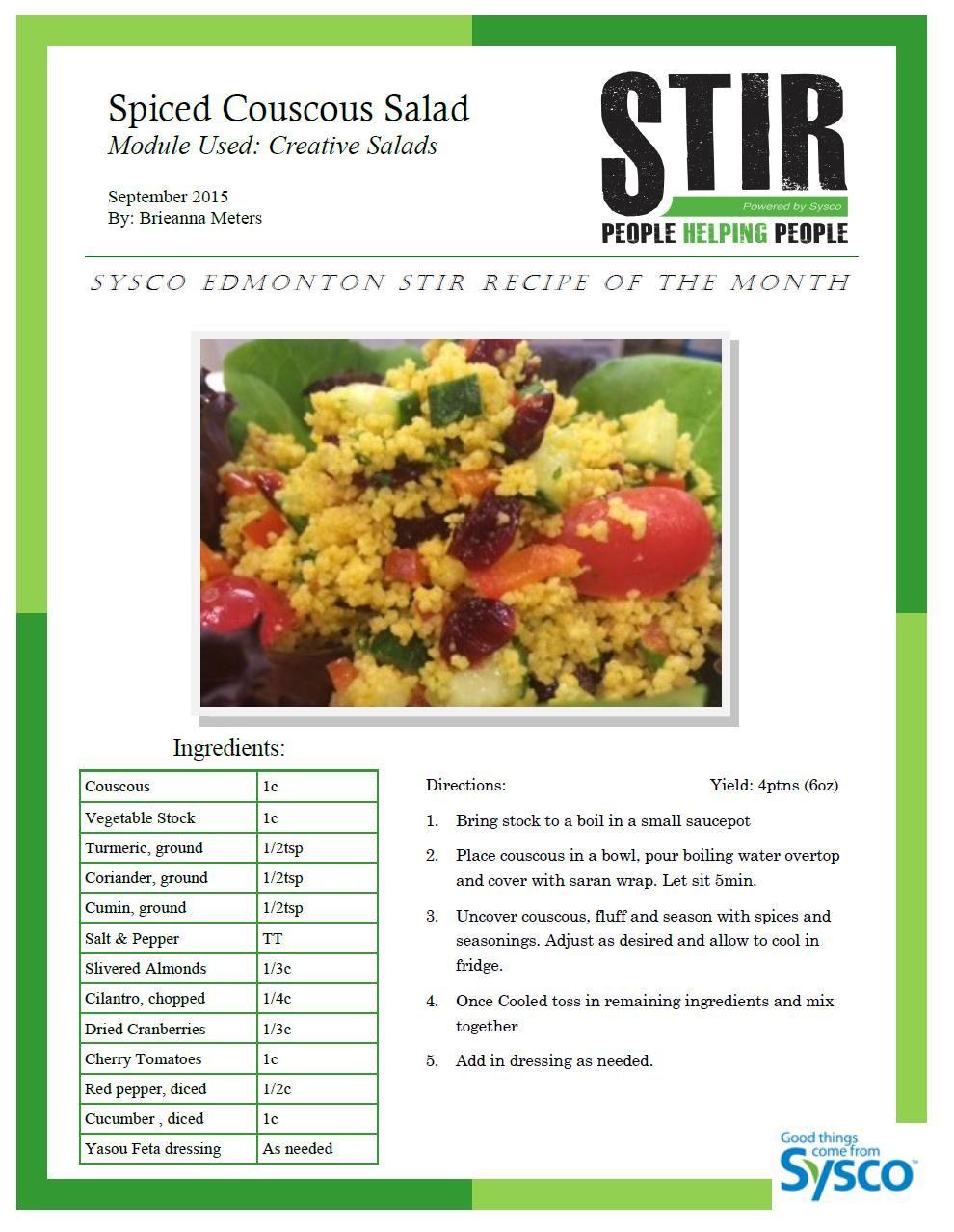 Pin by SyscoCanada on Sysco Edmonton's Recipes Recipes