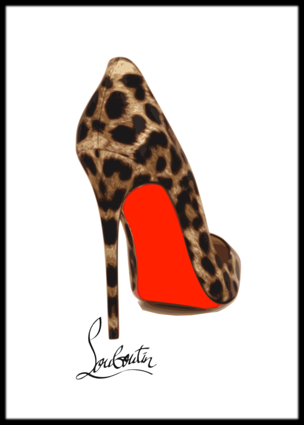 80246bf994aa Framed leopard Louboutin print Leopard Shoes