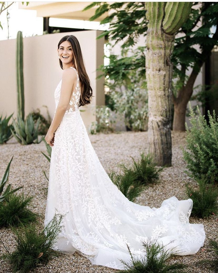 Spina Real Bride Wearing Lee Grebenau Bella Gown Exclusively At Spina Bride Www Spinabride Com In 2020 Dresses Wedding Gowns Dream Dress