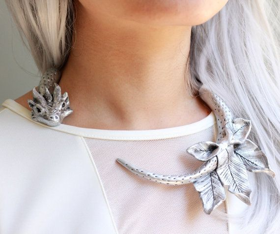 Game Of Thrones Dragon Silver Coloured Necklace Pendant Chain Jewellery Gift New