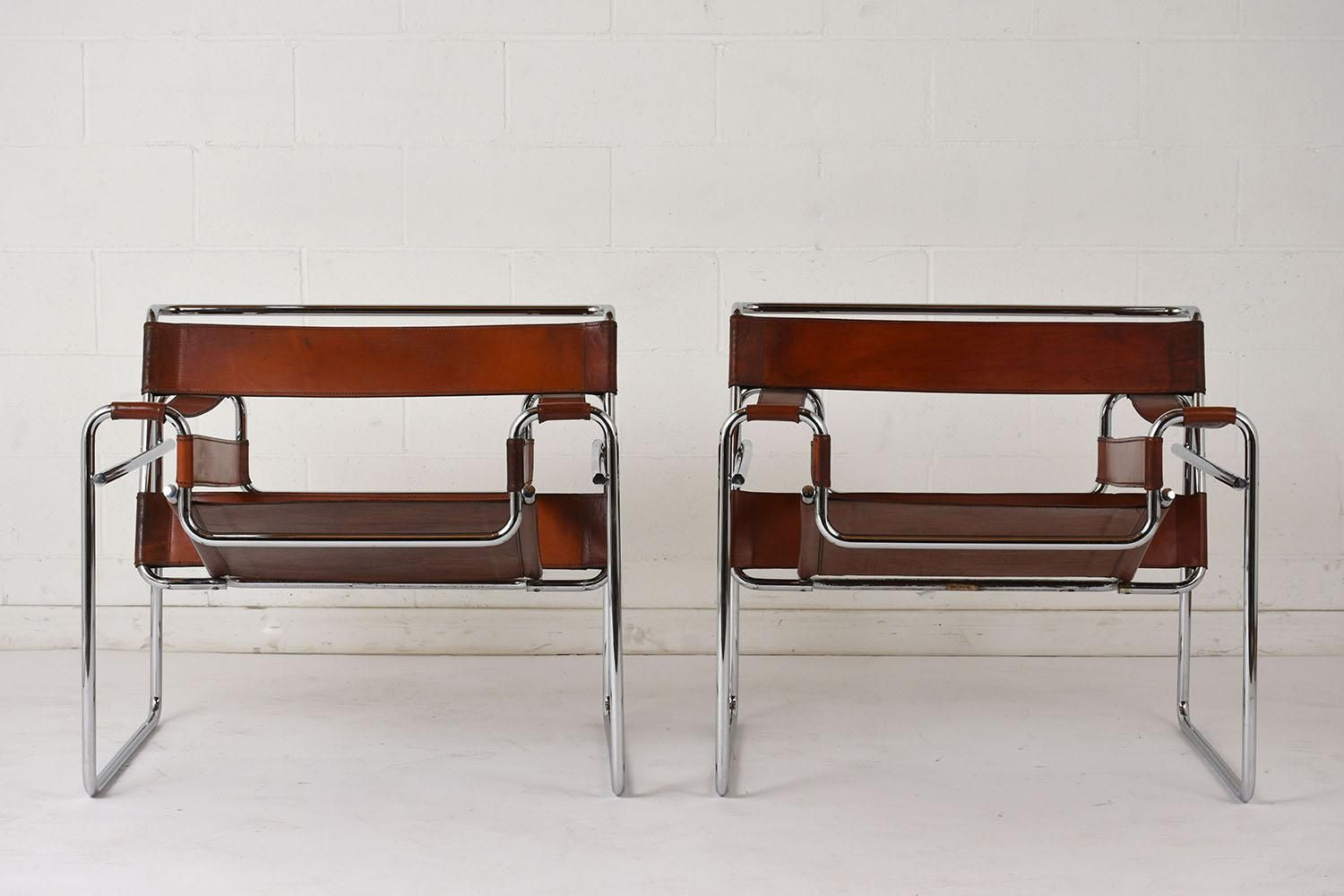 MidCentury Wassily Lounge Chairs by Marcel Breuer, Set of