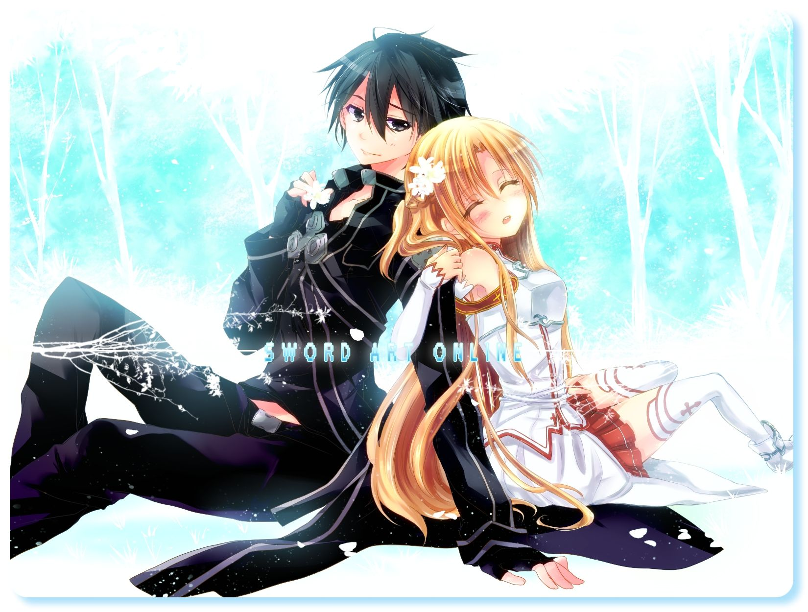 Romantic Anime Boy and Girl Kirito and Asuna Sword Art