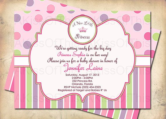 a new little princess baby shower invitation by akissofthis