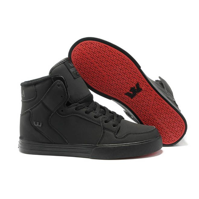 be43da9d49455 Supra Outlet Moda Online - Hombres Supra Skytop Negro Red Carpet Altos tops  54202