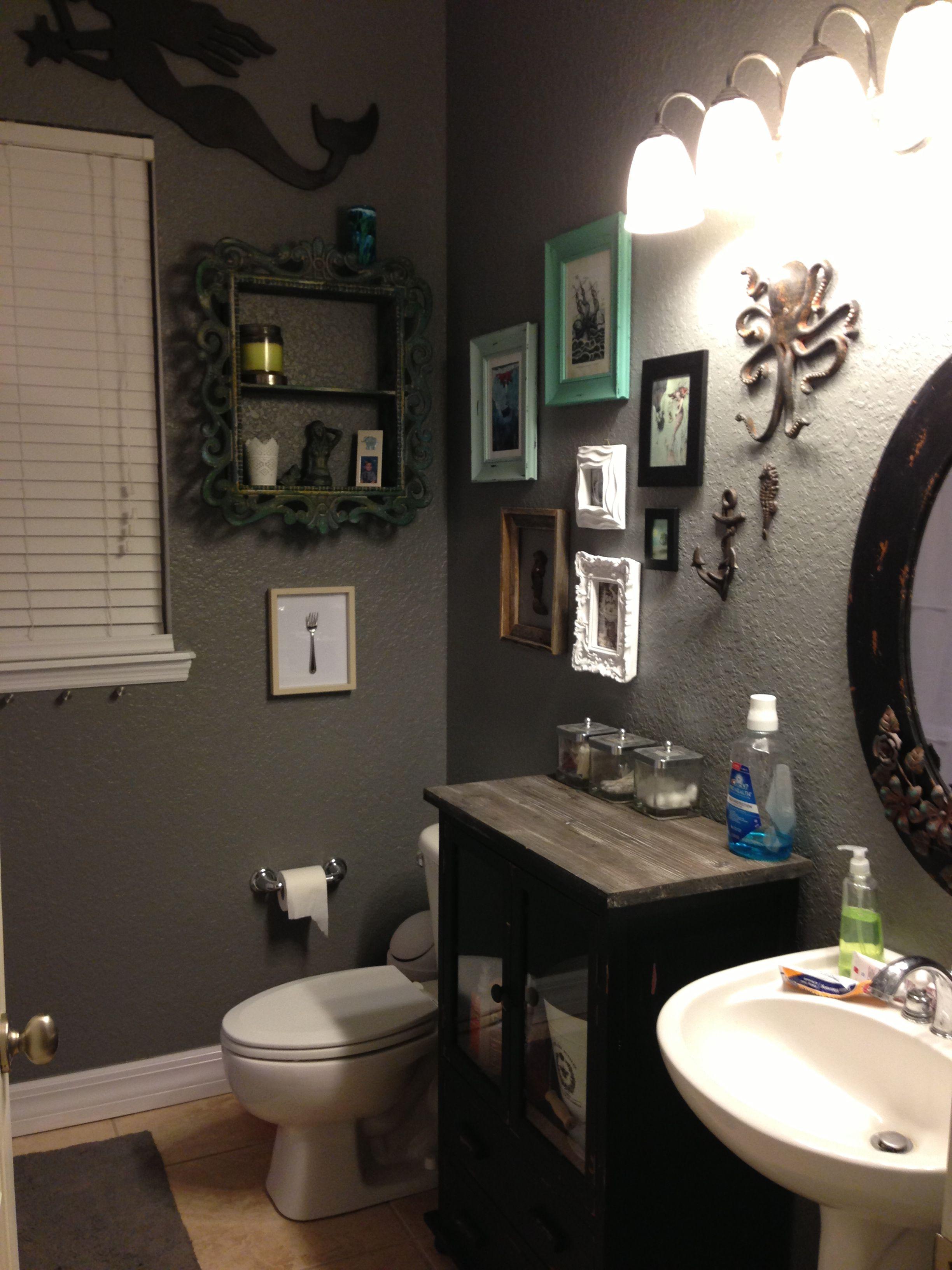 Grey Mermaid Bathroom Mermaid Bathroom Diy Bathroom Decor Diy