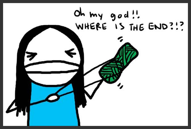 Every damn time! This is precisely why I don't knit!  LOL.
