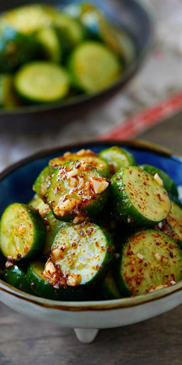 Asian Cucumber Salad Healthy Cucumber Salad With Asian Spices So Refreshing And Easy A Perfect Appetizer For Any Meals Rasamalaysia Com