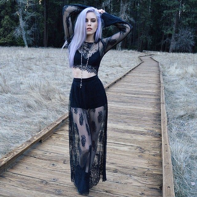 Black Sheer Lace Overlay Two Piece Outfit Soft Goth Vibes Dark Fashion Style Pylousa Scott Ford Lsstudi Alternative Fashion Gothic Outfits Fashion 230 results for goth outfits. goth vibes dark fashion style