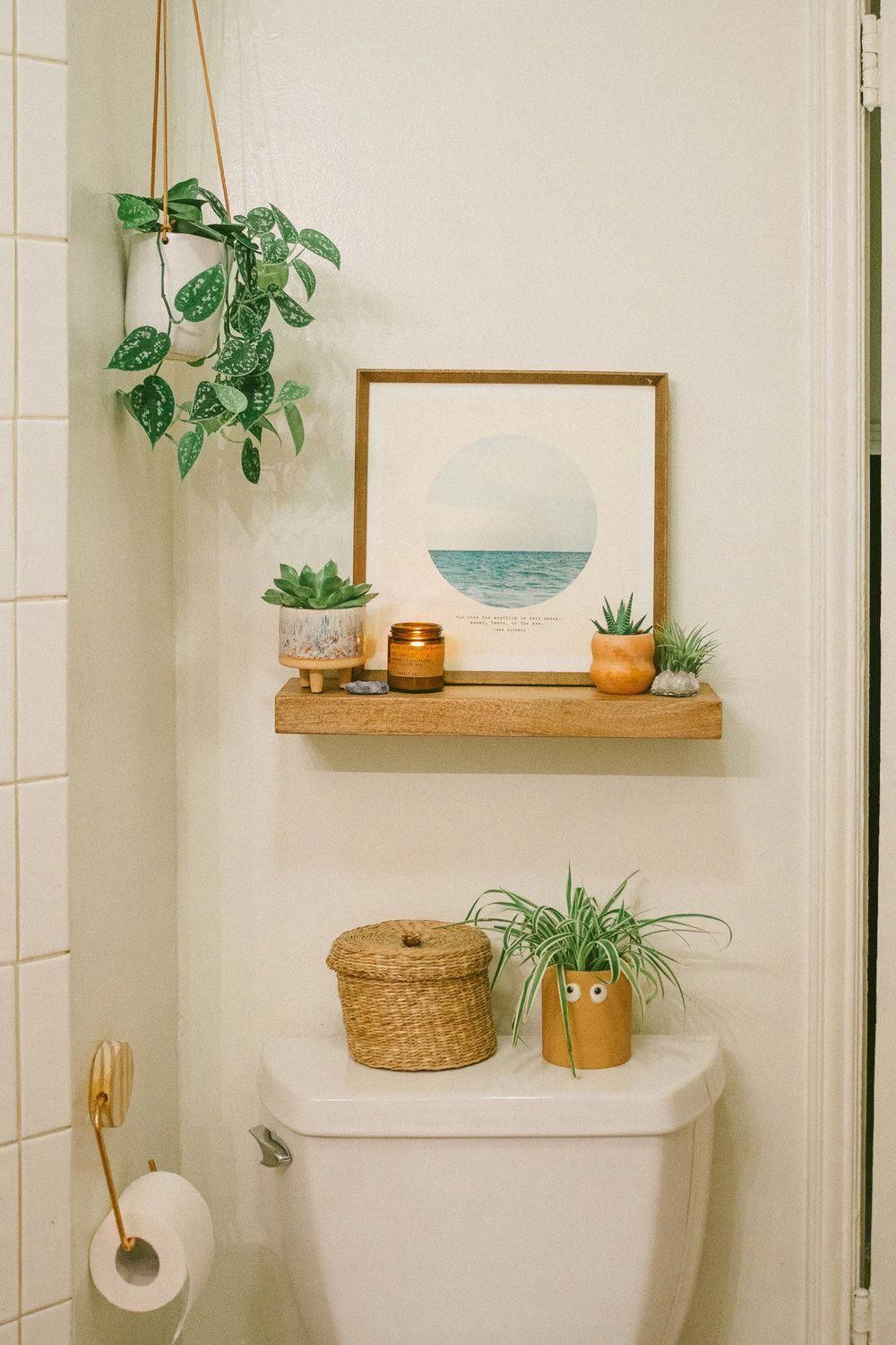 Orange Bathroom Accessories  Small Bathroom Wall Decor Ideas