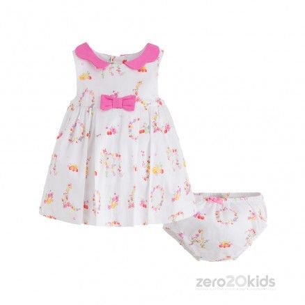 5a25368d6c6b1 MAYORAL - WHITE   PINK 2 PC DRESS (1M-12M)