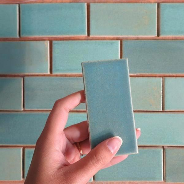 Pin By Summer Bock On Kitchen Green Subway Tile Blue Subway Tile Mercury Mosaics