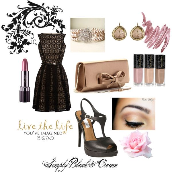 """Simple Black & Cream"" by lisa-garvey-hale on Polyvore"