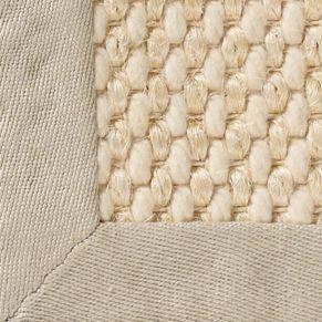 Cream Custom Restoration Hardware Belgian Textured Wool Sisal Rug