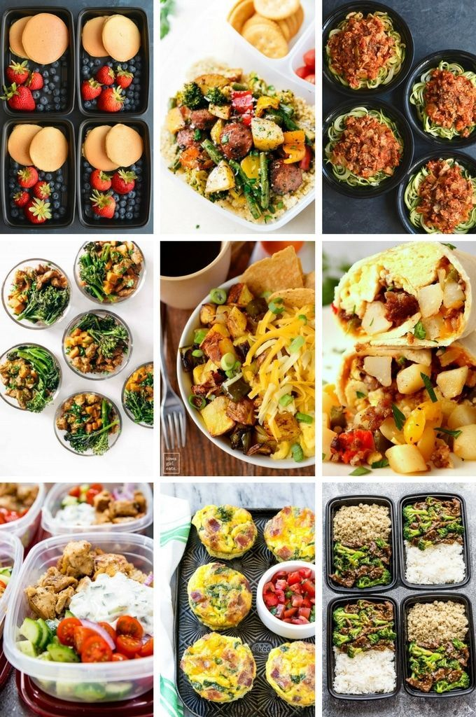 36 easy meal prep recipes for breakfast, lunch and dinner. m images