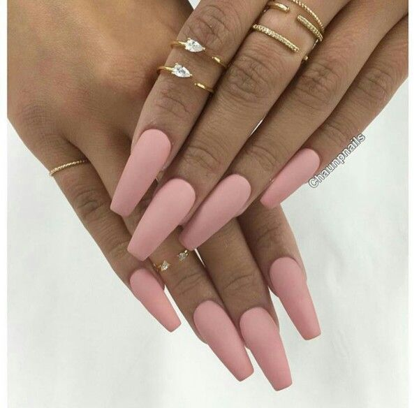 Light Matte Pink Nails Light Pink Acrylic Nails Pink Acrylic Nails Coffin Nails Matte