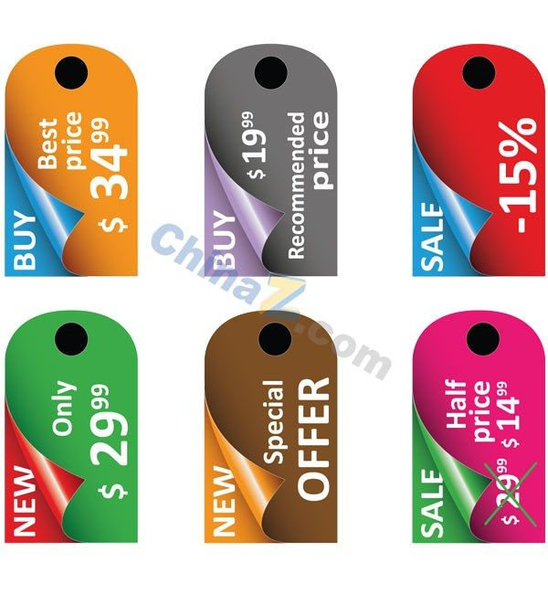 Sale Tag Vector Design Template  Referencias Tags
