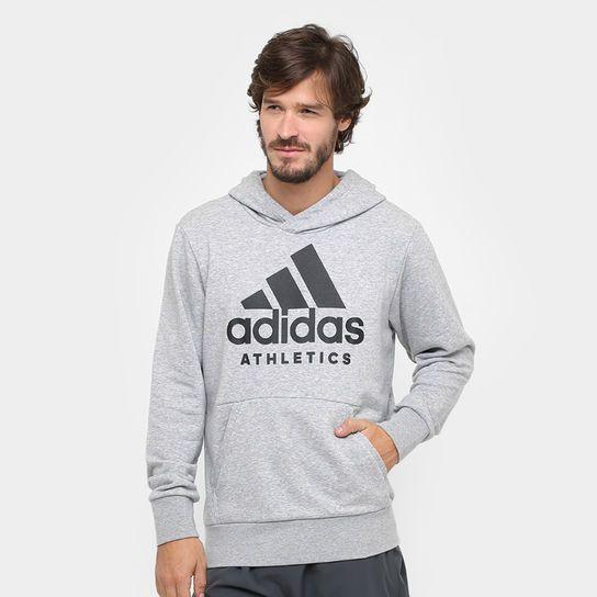 62e3cca93 Moletom Adidas Sport Id Branded Pullover French Terry C/ Capuz Masculino