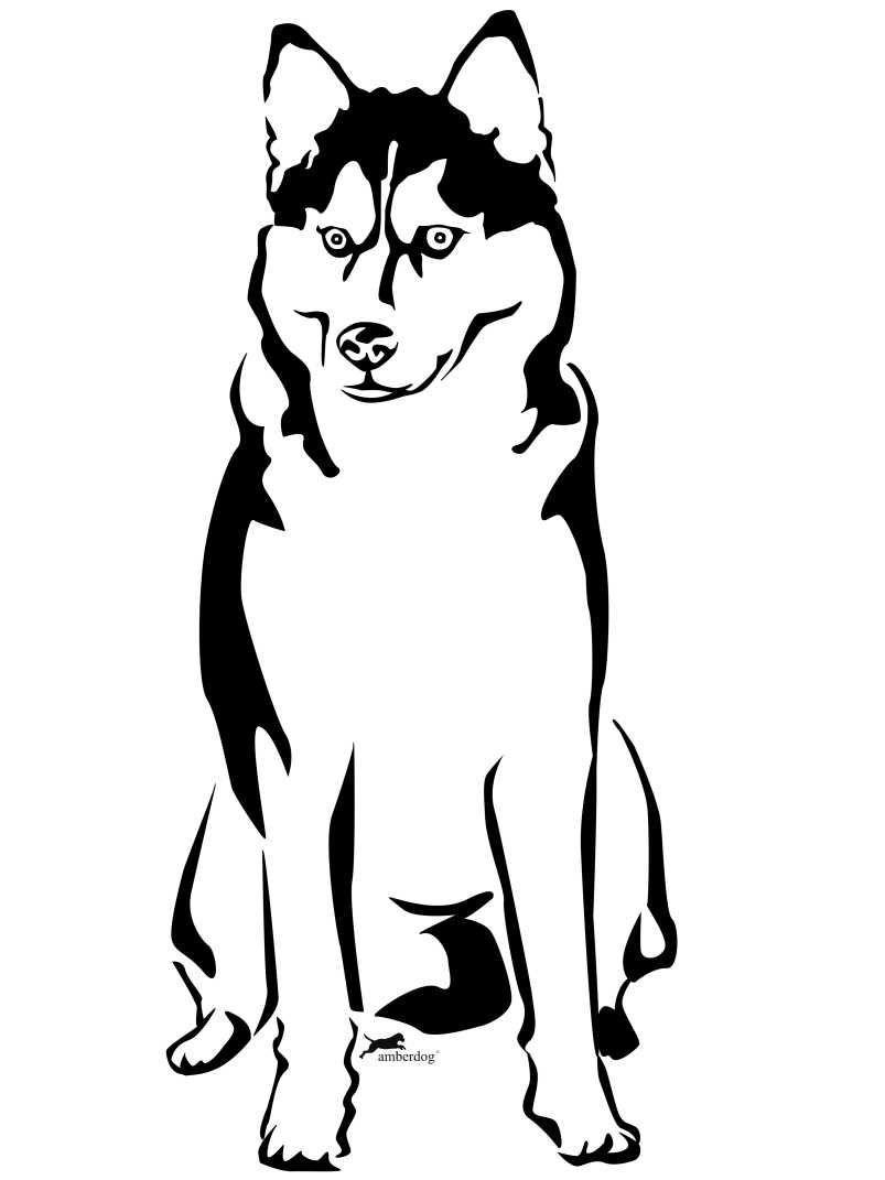 Kleidung Motiv Siberian Husky Hunde Wandtattoo De Wandtattoos Animali Pittura Su Stoffa Pirografia