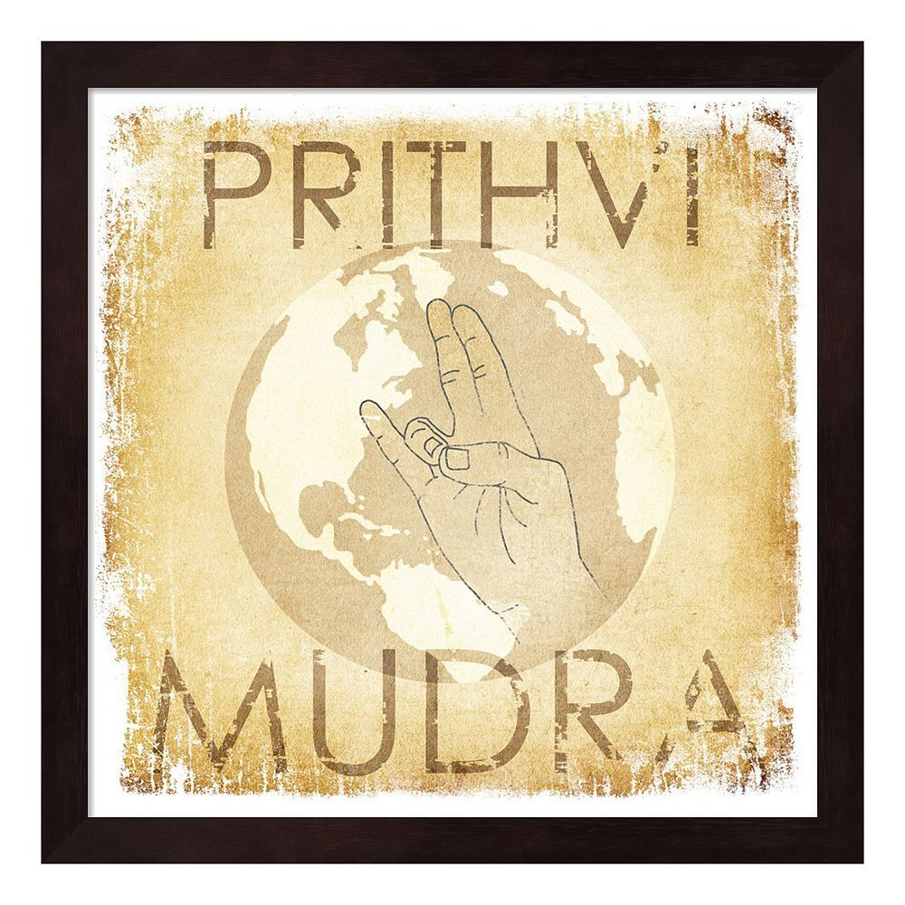 Metaverse Art Prithvi Mudra: The World Wood Framed Wall Art   Framed ...