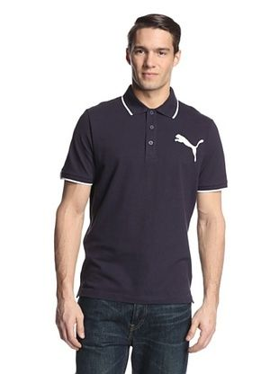 923066515428 31% OFF PUMA Men s Sports Casual Polo (New Navy White)