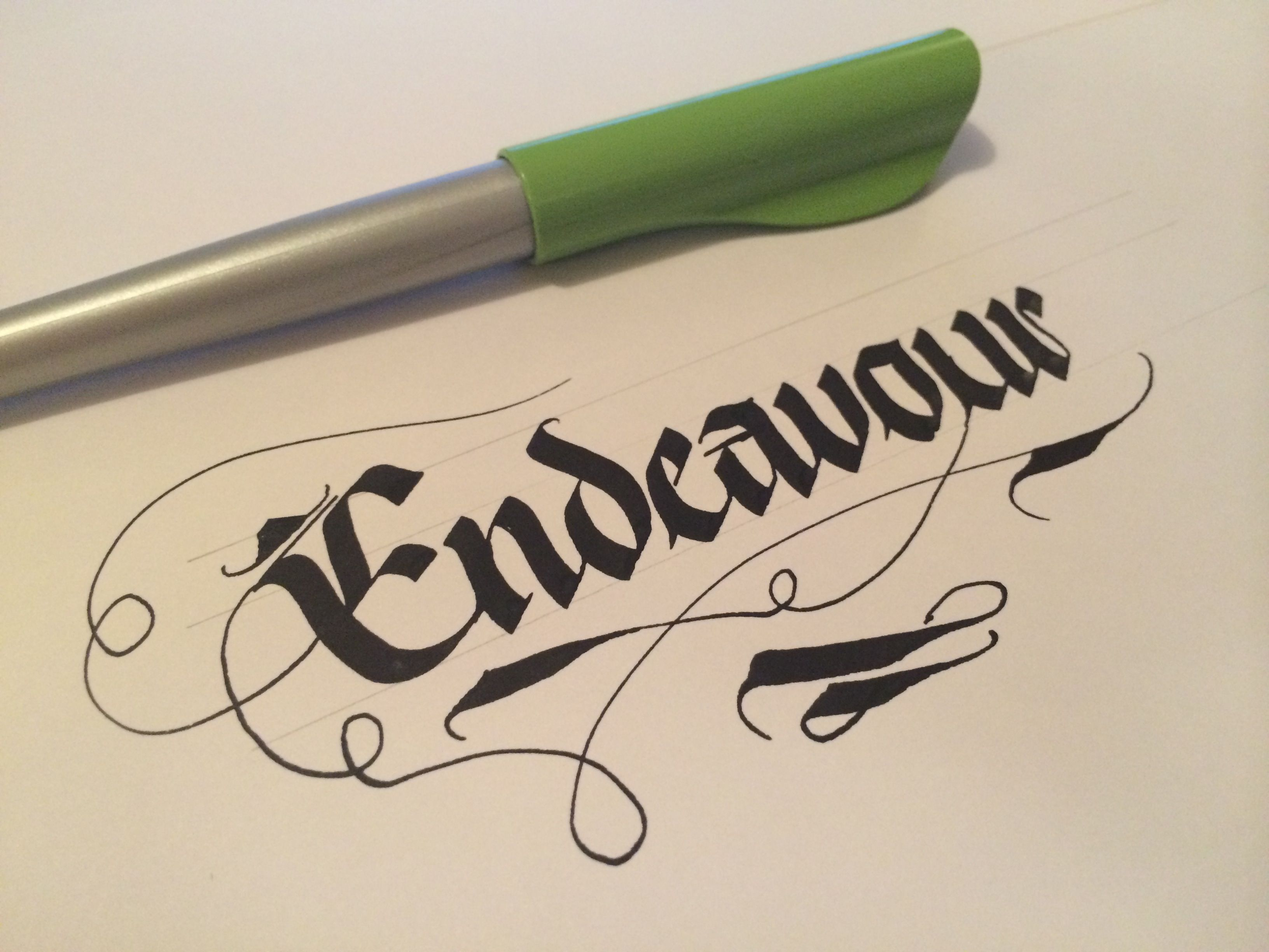 Such an important word, and so easy to mis-spell! #makedaily #calligraphy #fraktur #handlettering #customlettering
