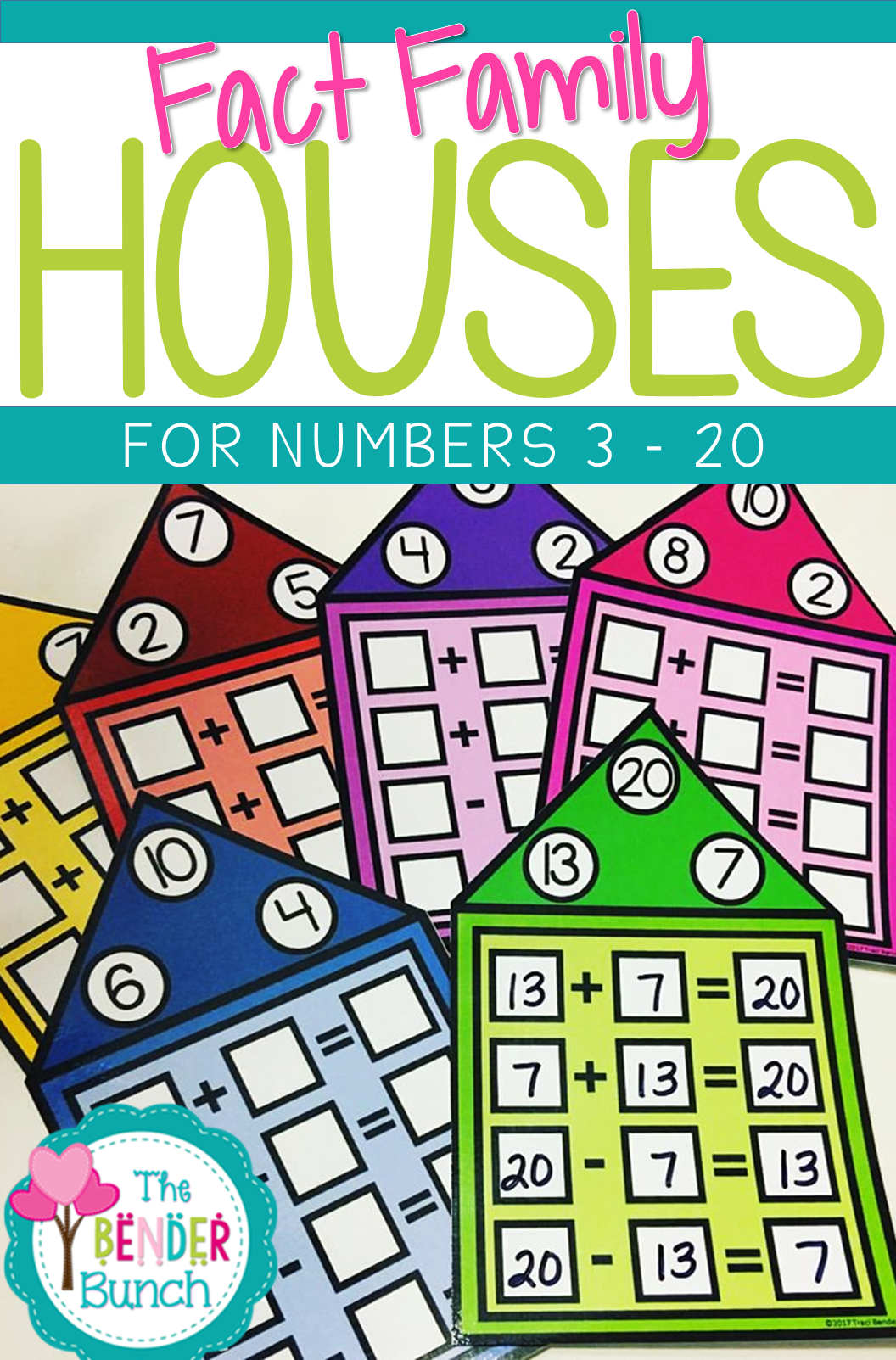 Addition Amp Subtraction Fact Family Houses 96 Task Houses