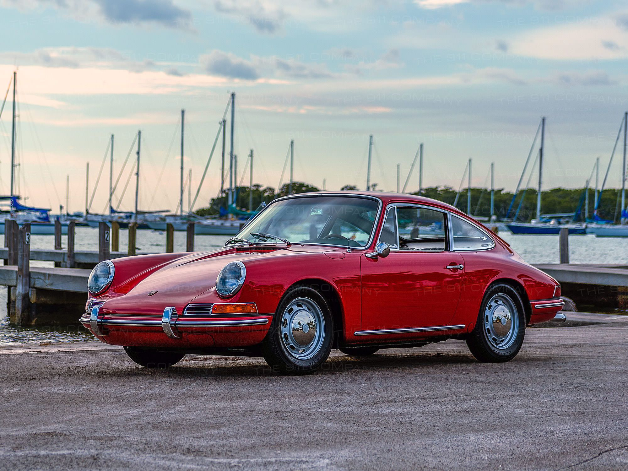 View details of this Polo Red 1965 Porsche 911. Highlights include ...