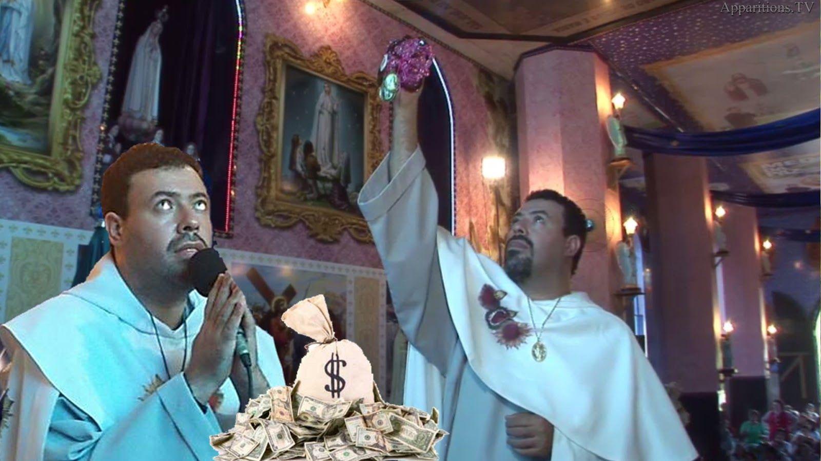 Marcos Money Inteligentol . Santuário das Aparições de Jacareí SP. são falsas. são verdadeiras, farsa, photoshop,