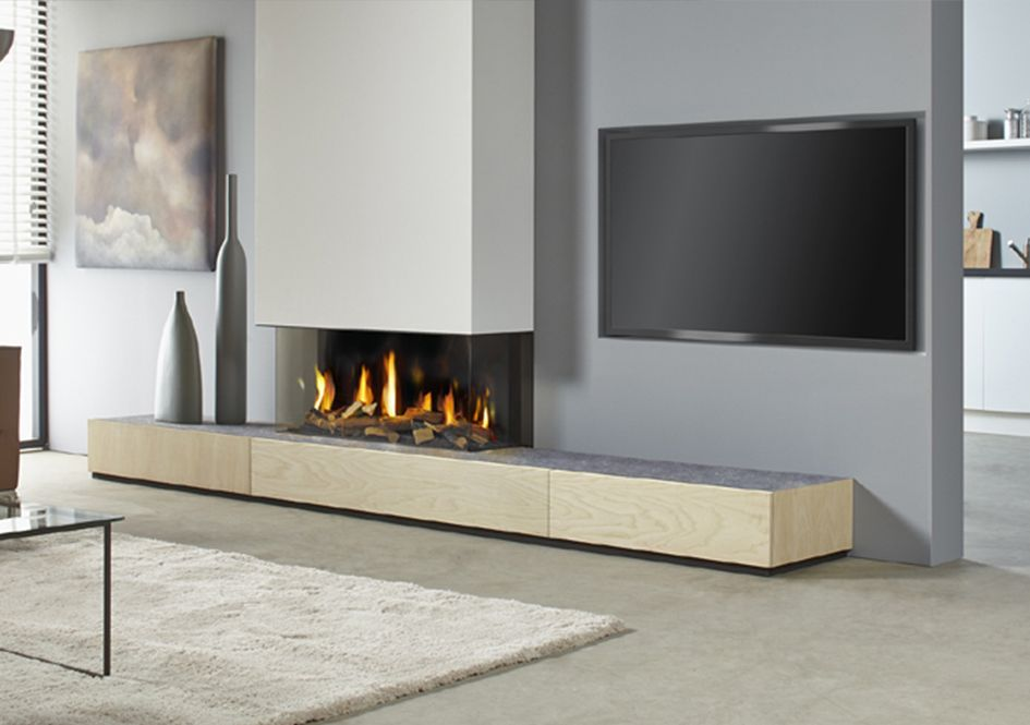 Fire places and Living rooms
