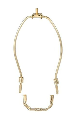 Brass Lamp Harp With Saddle, 14 Inch Lamp Shade Harp