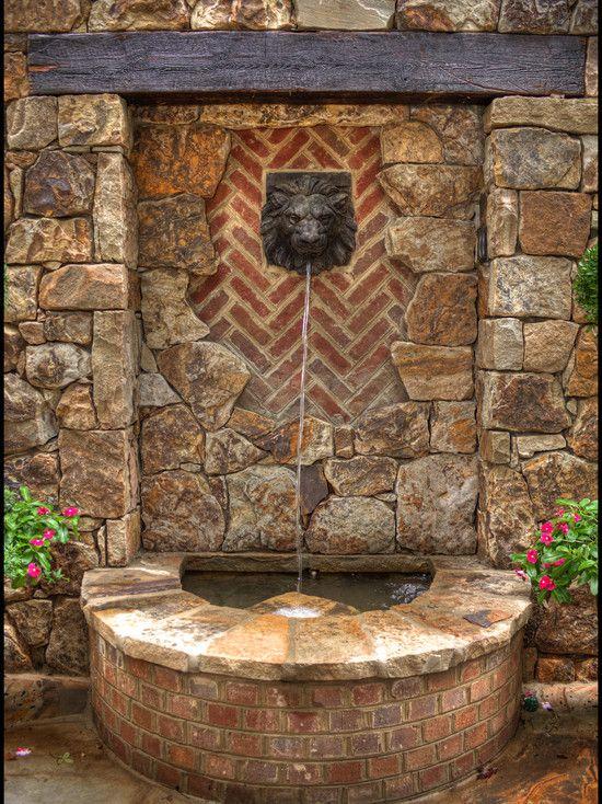 wall fountain design landscaping ideas pinterest